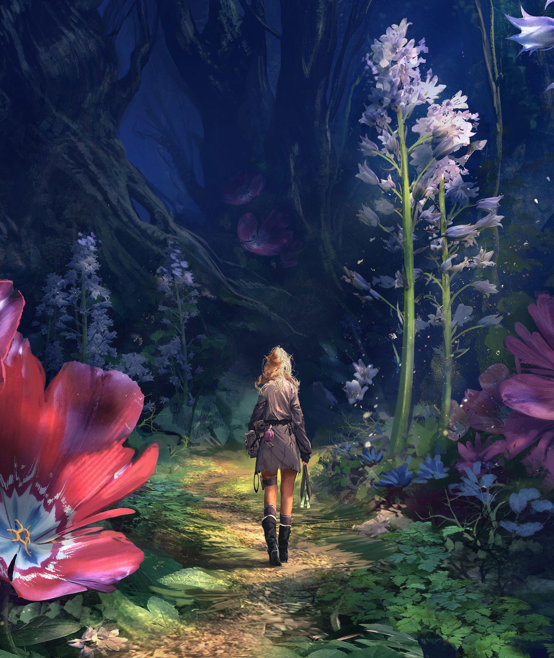 Красивые картинки фэнтези цветы