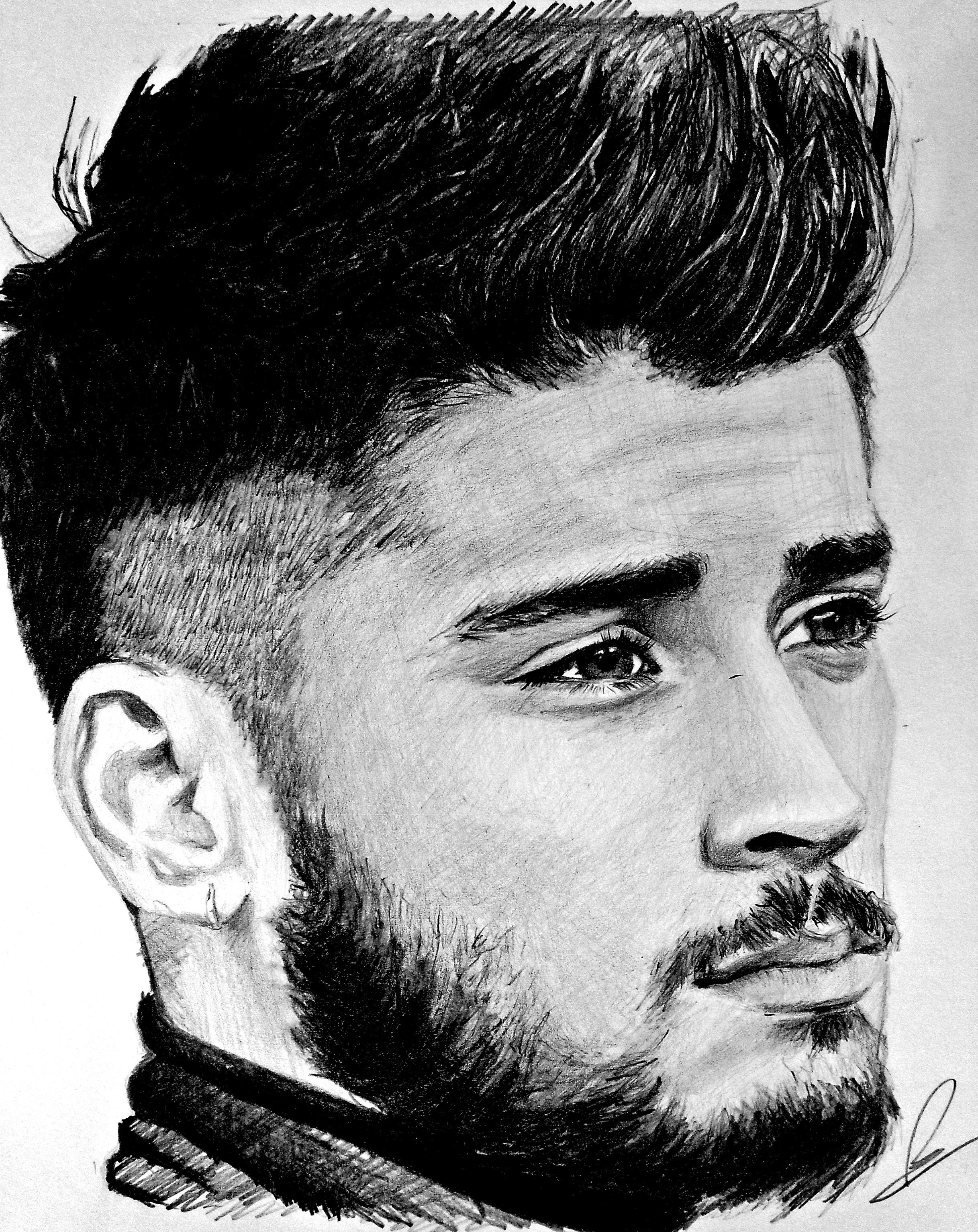 My drawing of zayn malik zayn malik drawing timelapse obin art zayn malik