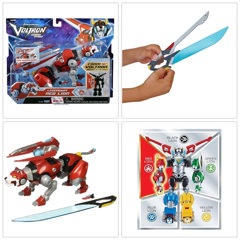 Toys images for boys  Details about Voltron Legendary Defender Red Lion Transforms Action