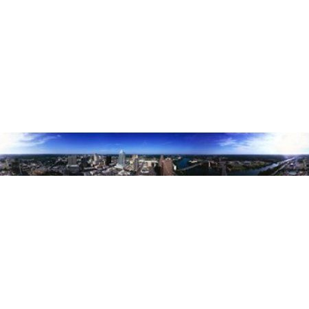 Aerial view of a city Austin Travis county Texas USA Canvas Art - Panoramic Images (44 x 7)
