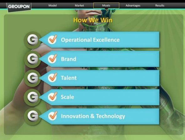groupon's ipo roadshow presentation: here's what groupon will be, Presentation templates