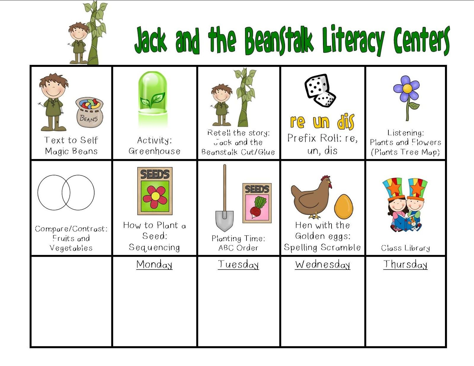 Jack And The Beanstalk Worksheets Activity We Have