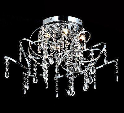 Kristall Kronleuchter Deckenleuchte Lüster Leuchte Ø50cm