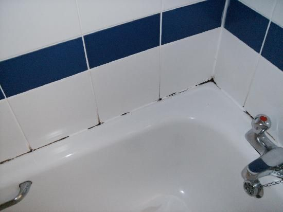 Removing Mold From Bath Grout Caulking I Just Did This Behind My - Best kitchen and bath caulk