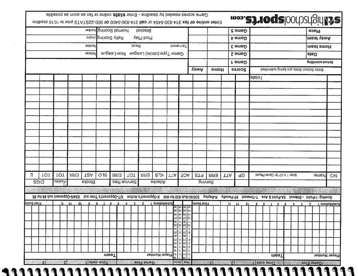 Image Result For Volleyball Stat Sheets Spreadsheet Template Templates Sheet