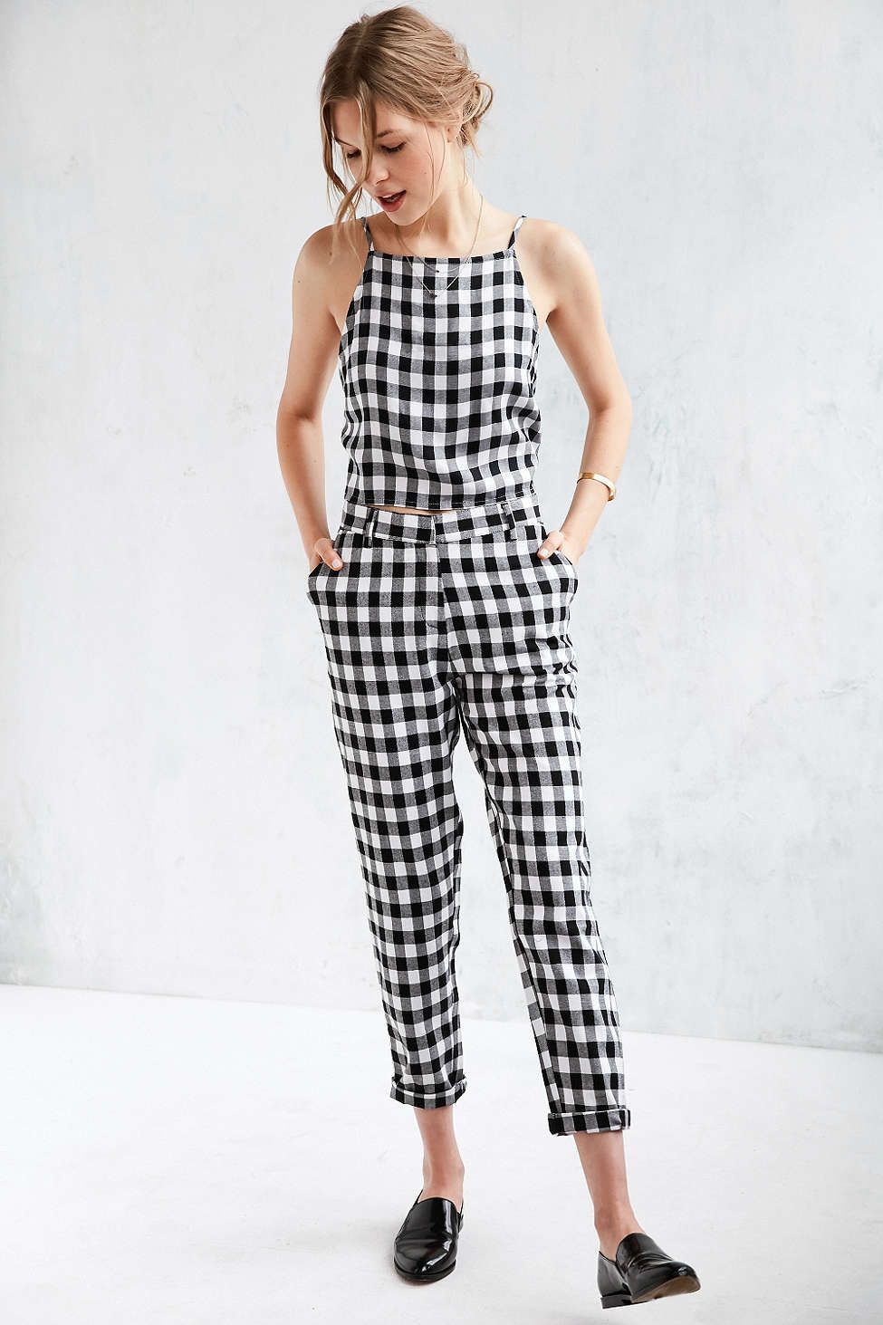 98874a2c69 Native Youth Gingham Trouser  style  streetstyle  rad  fashion  outfit   chic  wideleg  summerstyle  twopiece