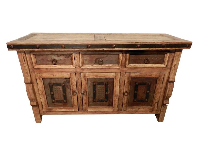 Mexican Ox Yoke Clavos Sideboard