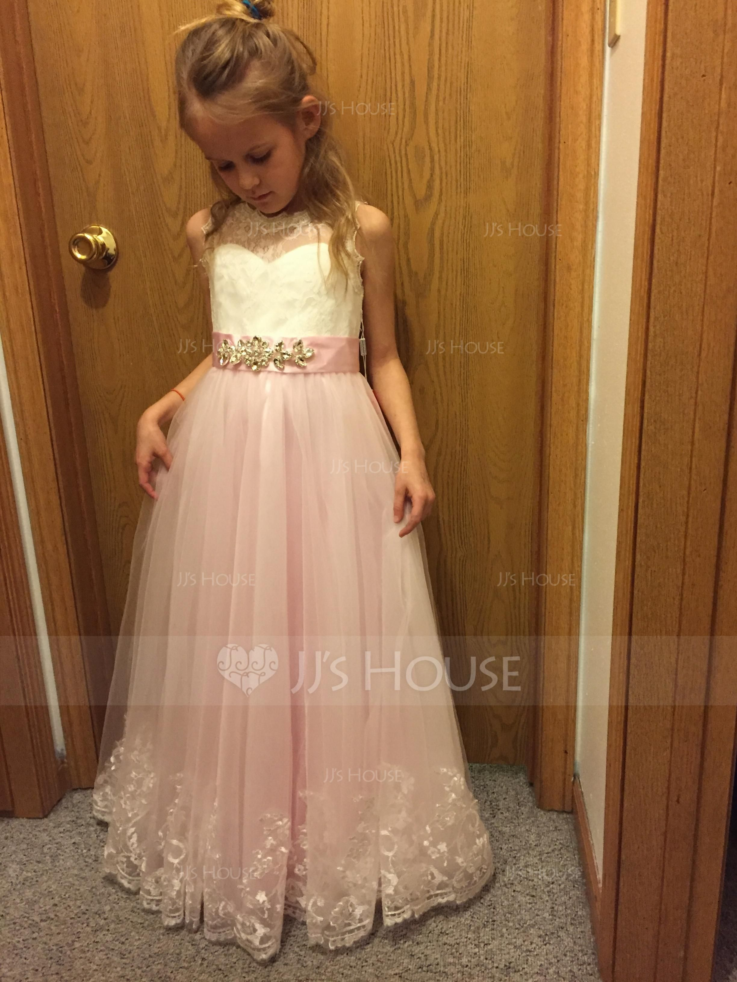 6a1d322c1 m.jjshouse.com reviews Ball-Gown-Floor-Length-Flower-Girl-Dress -Satin-Tulle-Lace-Sleeveless-Scoop-Neck-With-Rhinestone-010143277-cid10-p143277