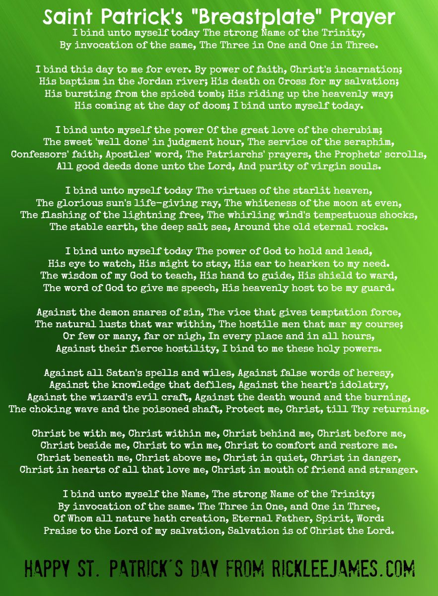 Image result for free photo music to st. patrick's breastplate