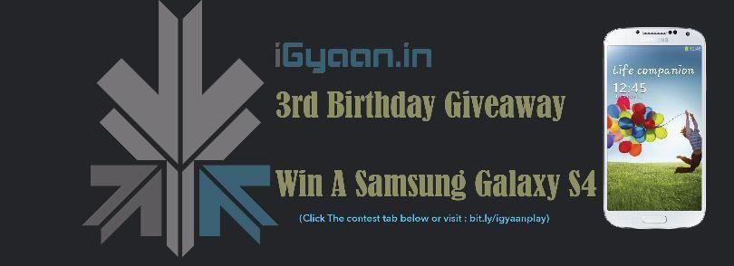 Igyaan galaxy s4 giveaways