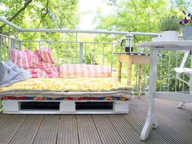 Terraza con palets muebles de terraza pinterest for Muebles de terraza con palets