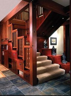 Image Result For Arts And Crafts Era Floating Staircase