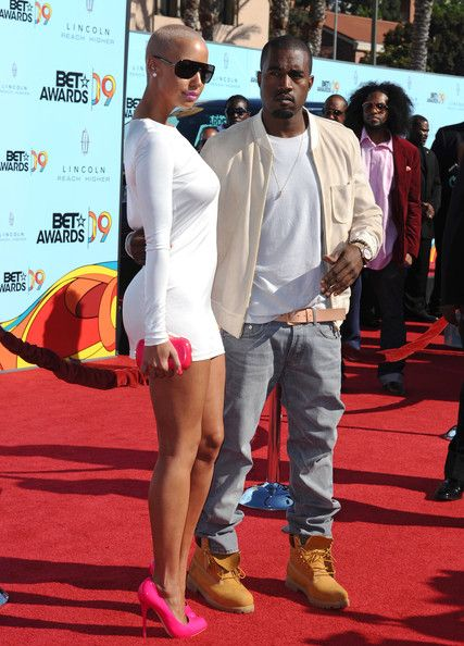 Kanye West And Amber Rose Photos Photos 2009 Bet Awards Amber Rose Kanye West Kanye West Photo