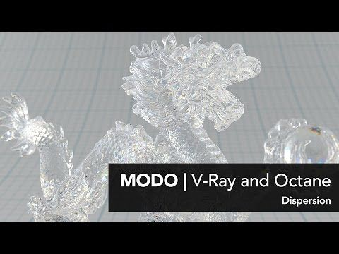 MODO | V Ray and Octane in MODO Transparency part 2: Dispersion