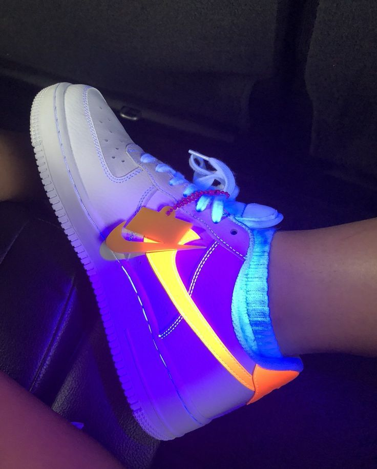 Nike Air Force 1 NEON | Custom nike shoes, Nike shoes ...