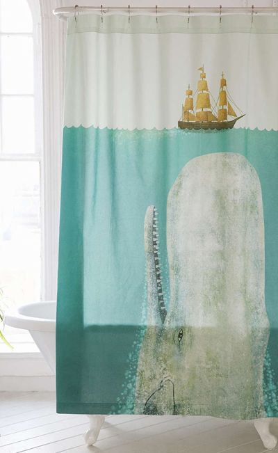 Terry Fan The Whale Shower Curtain Shower Curtain Art Whale