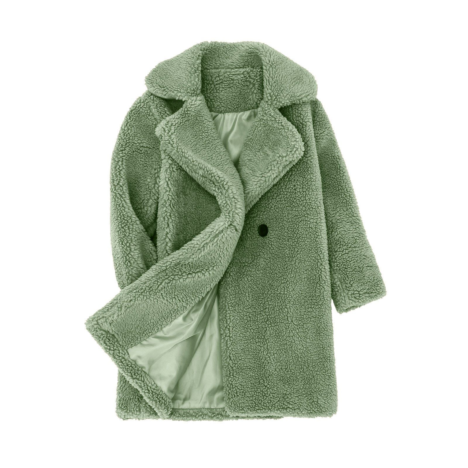 Warm & Cozy Trench Style Pocketed Coat - Green / 3T