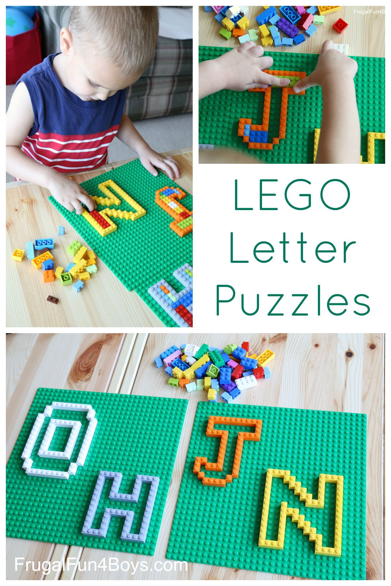 Learning with LEGO: Letter Puzzles | Kids learning ...