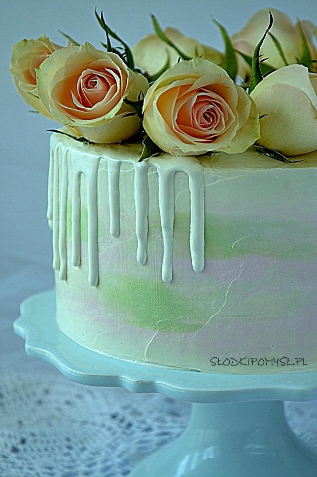 Bialy Drip Biala Polewa Na Tort Przepis Slodki Pomysl Cooking Recipes Cake Ganache