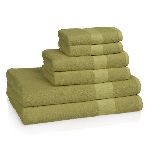 Kassatex Bamboo 60 Combed Egyptian Cotton 6 Piece Bath Towel Set