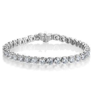 4559227cc099 SummerRose Platinum 10 7 8ct TDW Diamond Tennis Bracelet