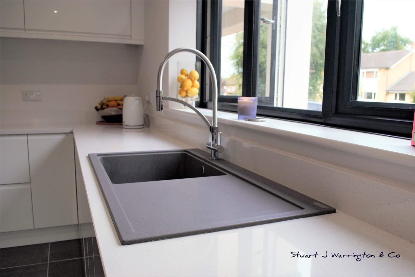 Piano Cottura Fragranite Grigio franke maris fragranite sink with franke wave tap | lavelli