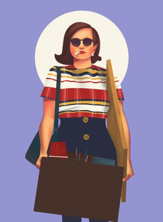 Peggy Olson from Mad Men Art Print