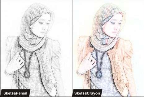 Cara Membuat Efek Sketsa Dengan Photoshop Cs3 Photoshop Sketsa Lukisan