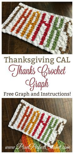 """November is a month for reflection and thanksgiving. Check out this free corner to corner crochet graph and instructions as we wrap up the """"Give Thanks"""" portion of our Thanksgiving CAL!"""