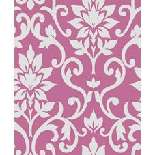 Fresco Damask Quality Wallpaper Pink 50-315