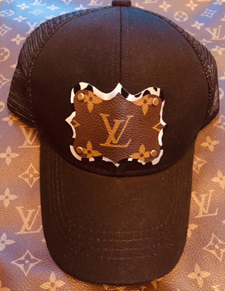 9468153294b Excited to share this item from my  etsy shop  Repurposed Louis Vuitton  ponytail baseball hat snapback