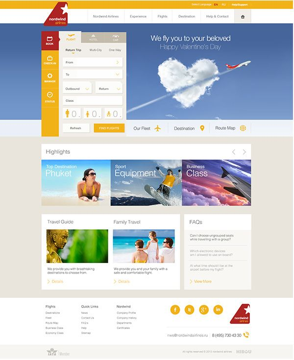 Nordwind Airlines on Behance