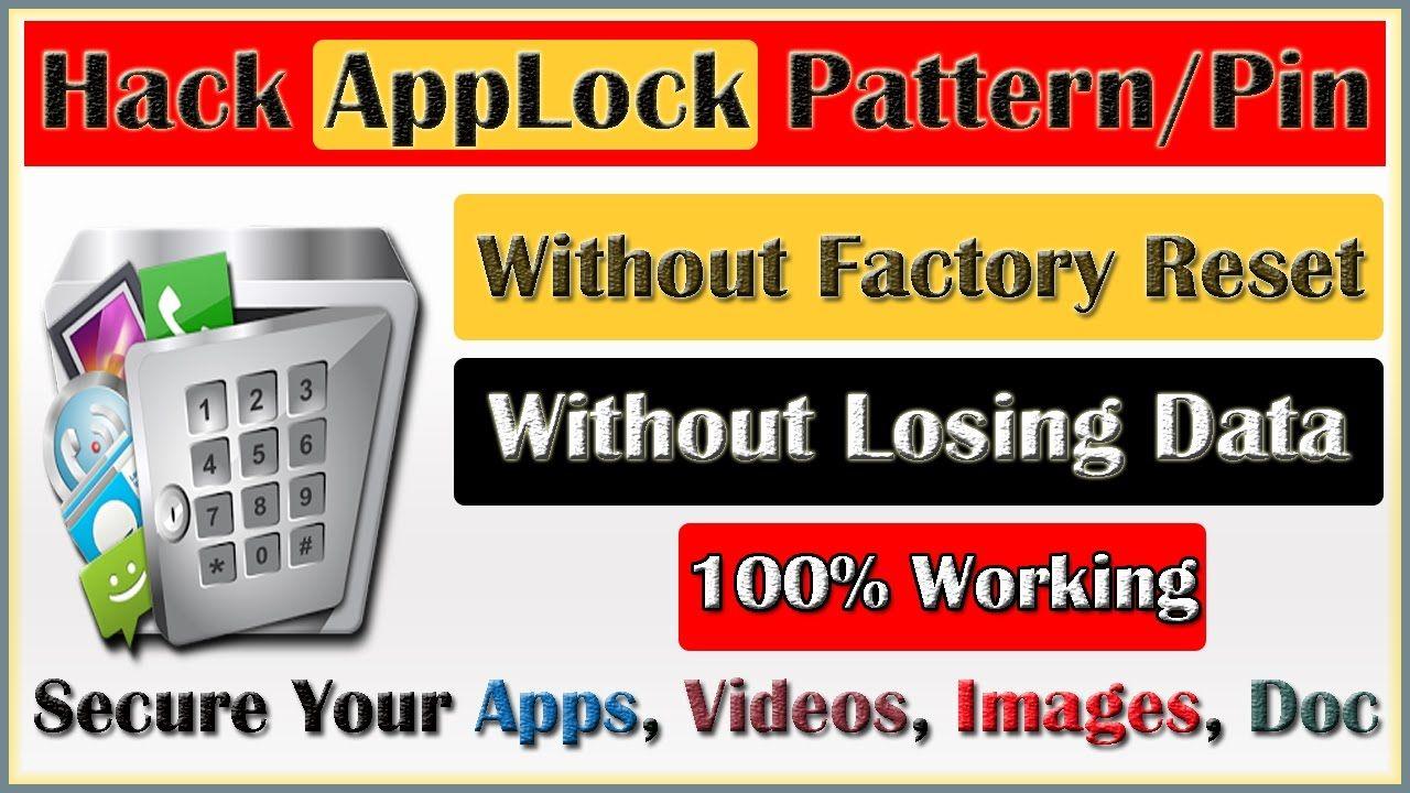 Unlock Locked App Without Password Hack Applock Pattern