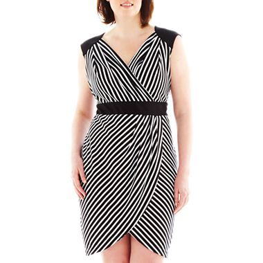 Worthington Striped Faux Wrap Dress Plus jcpenney got this