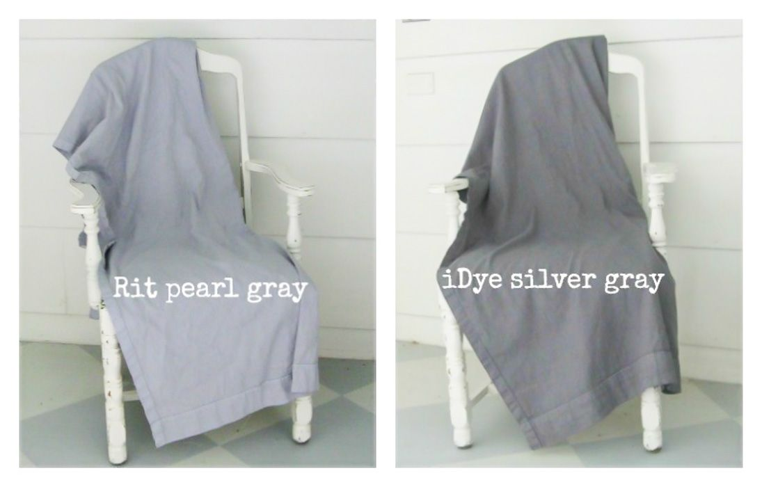 Idye Silver Gray Vs Rit Pearl Gray How To Dye Fabric Painting Fabric Furniture Dye Curtains