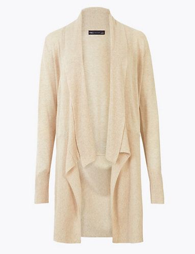 Waterfall Longline Cardigan with Linen | Cardigans