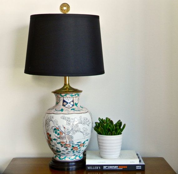 Asian Table Lamps Vintage Asian Table Lamp Chinese Ginger Jar End Table Lamp