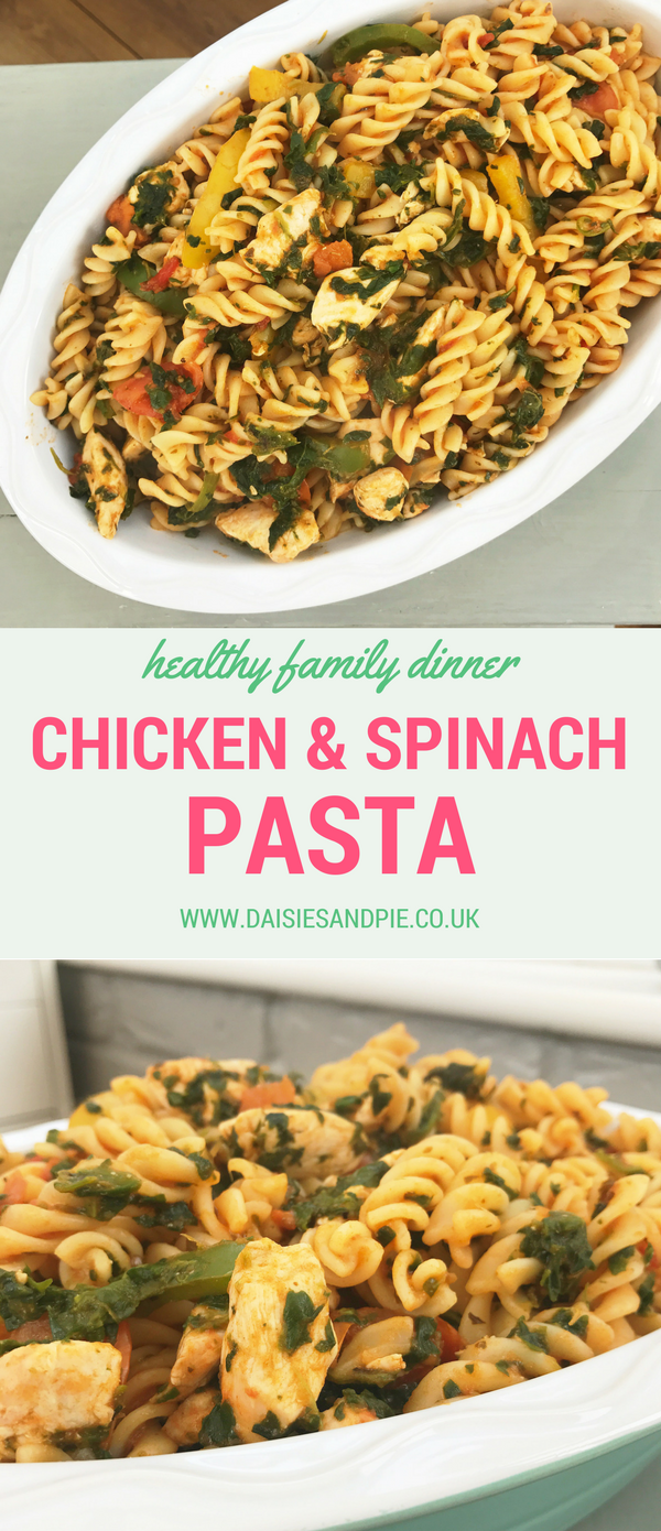 Quick Chicken And Spinach Pasta Recipe Pasta Lover Pinterest