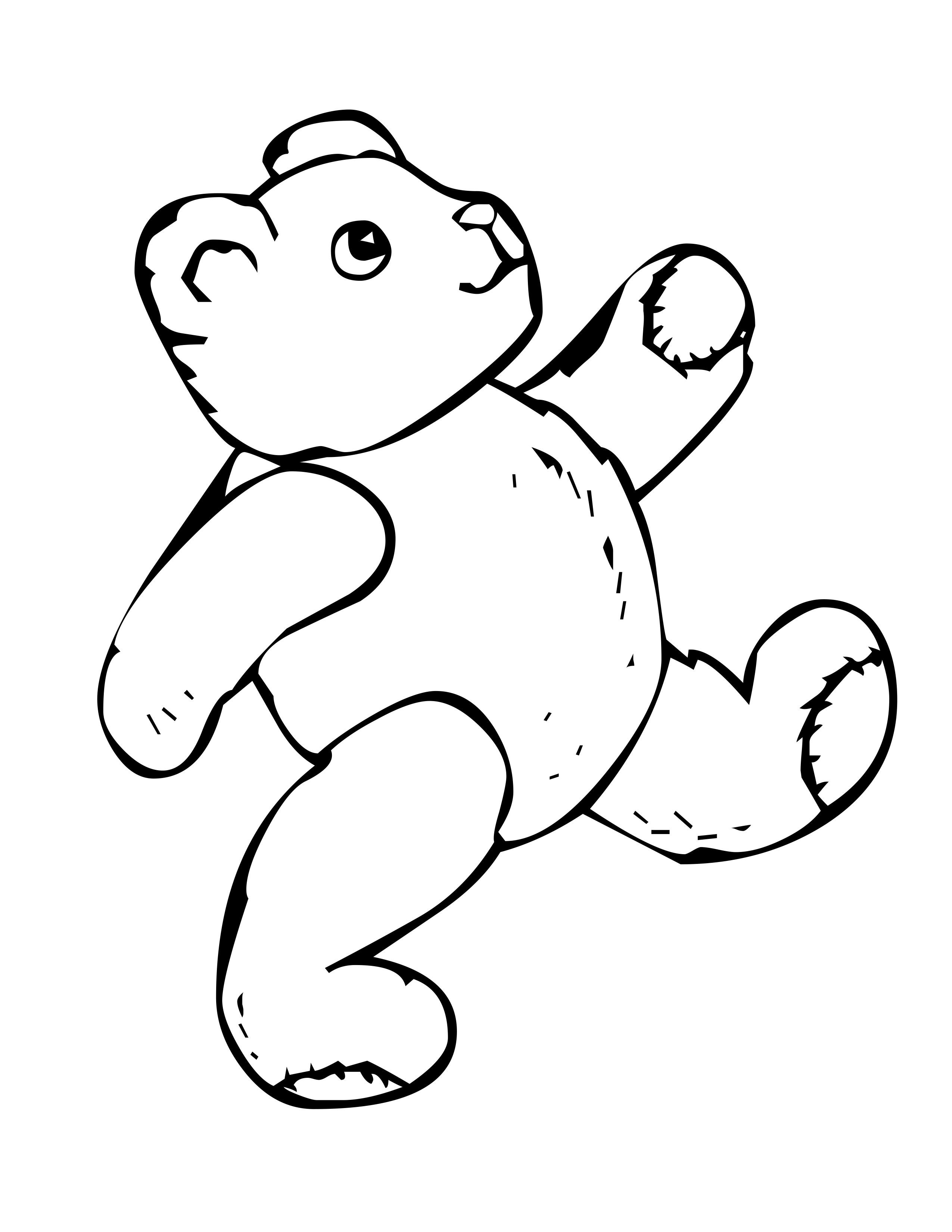 Related Teddy Bear Coloring Pages item7869, Teddy Bear