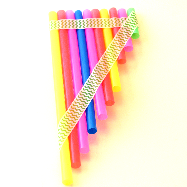 Easy-peasy straw pan pipes make a whispery sound for kids ...