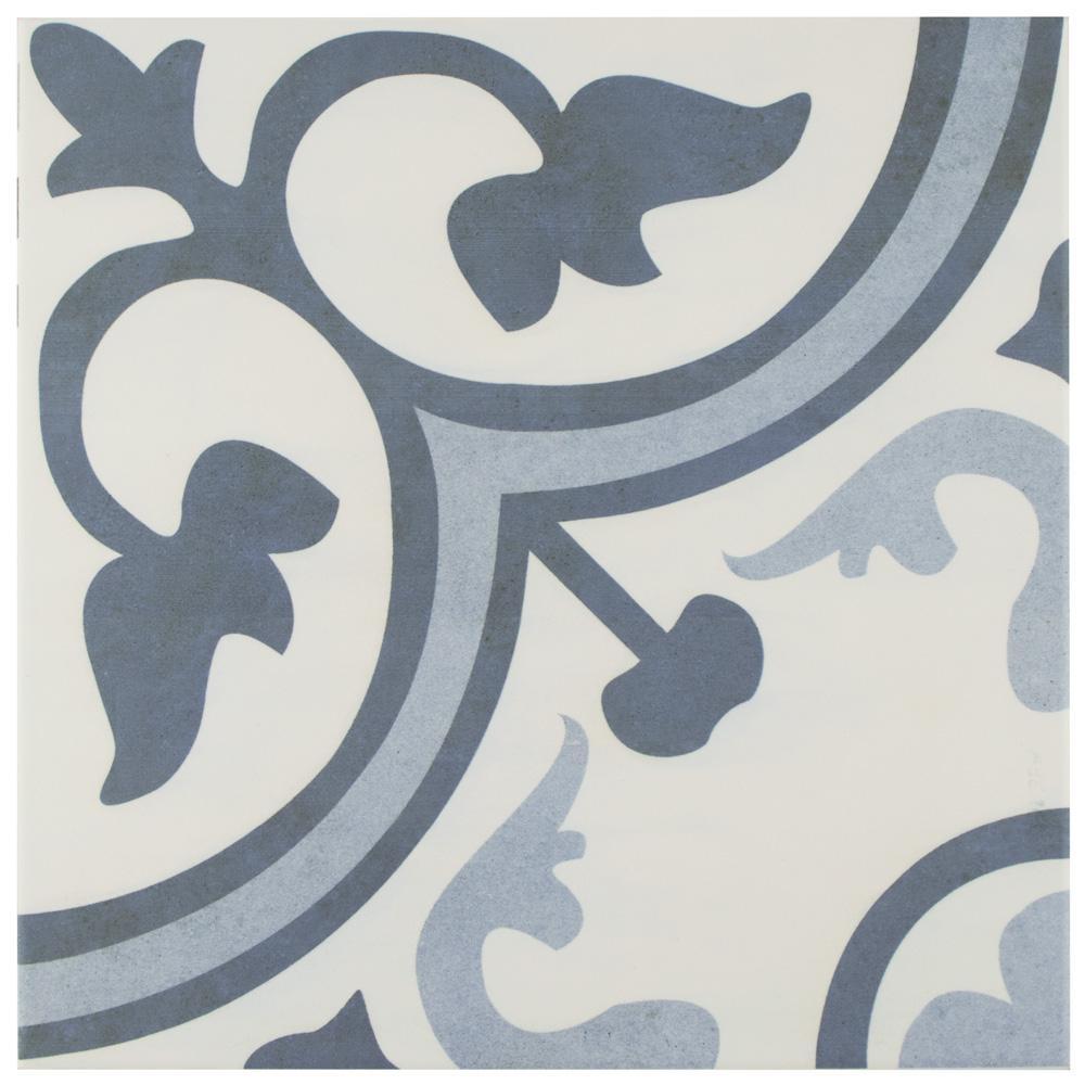 Merola Tile Amberes Azul Encaustic 12 3