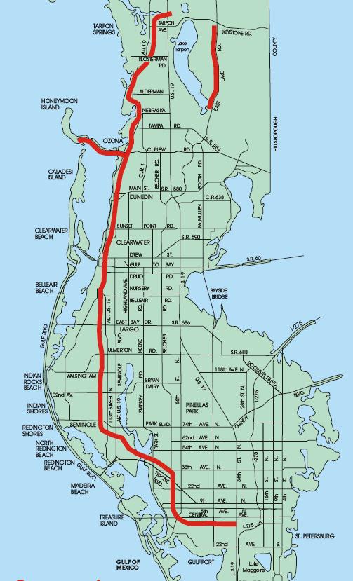 pinellas bike trail map Pinellas Trail Honeymoon Island