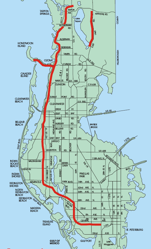 Honeymoon Island Florida Map.Map Of The Pinellas Trail Hurry Spring March 2014 Fav Places