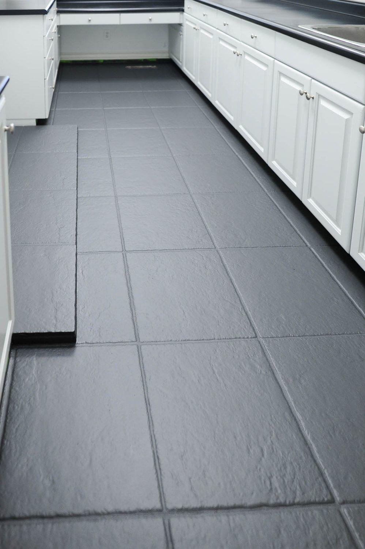How To Paint Tile Flooring With Rust Oleum Floor Coating Painting Tile Floors Painting Tile Painted Bathroom Floors