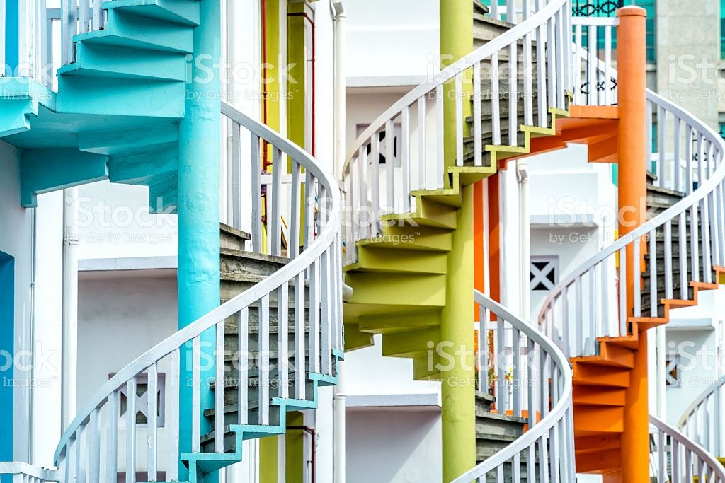 Best Colorful Spiral Stairs Of Singapore S Bugis Village 400 x 300