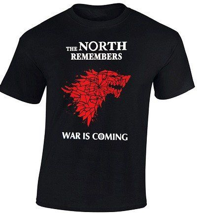 Game of Thrones Men T Shirt THE NORTH REMEMBERS WAR IS COMING Graphic Printed Summer Fashion Top Tee Shirts Size S-3XL Top Sale