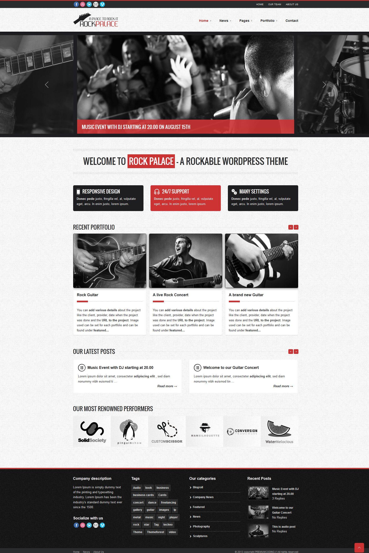 Rock Palace   Responsive, Fixed-Header, Wordpress Template ...
