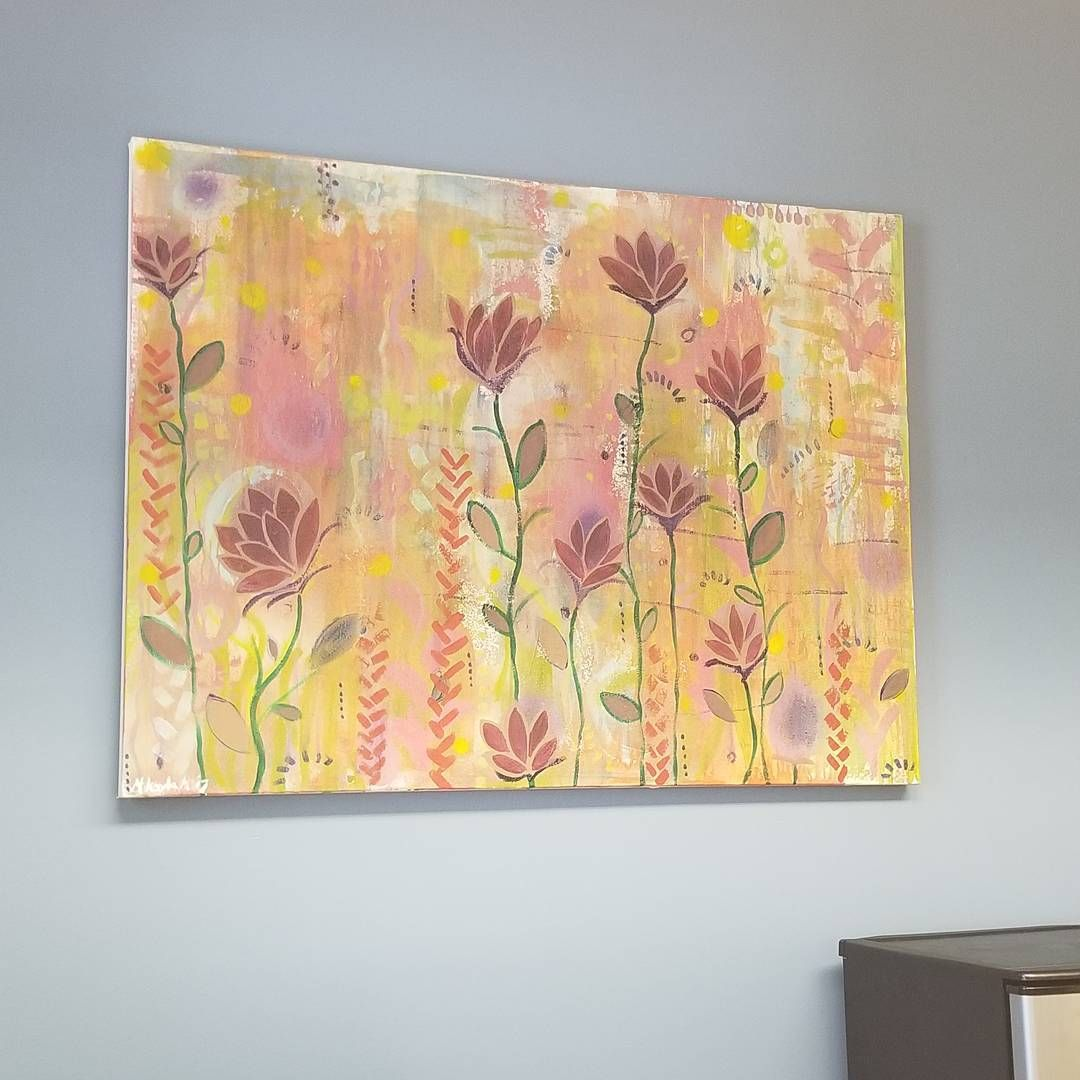 My office wall was too bare, so I brought in the Garden painting ...