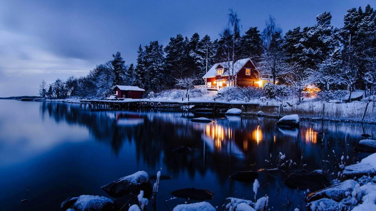 Swedish Folk Songs Winter Scenery Winter Landscape Winter House