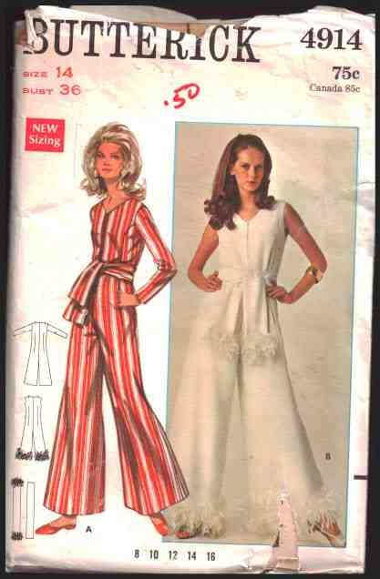 Butterick Sewing Pattern 4914 Misses' Jumpsuit  Size:  14  Bust 36  Used